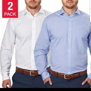 2 New Tommy Hilfiger mens regular fit shirts